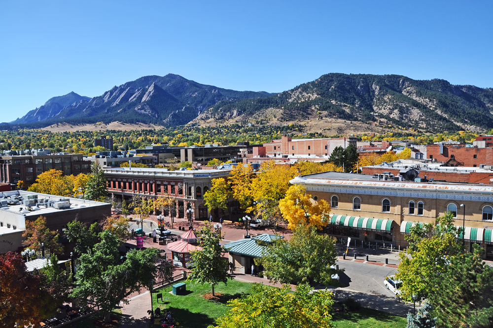 There's a lot of foliage colors during Fall in Boulder. Photo Credit: Downtown Boulder (DBI.org)