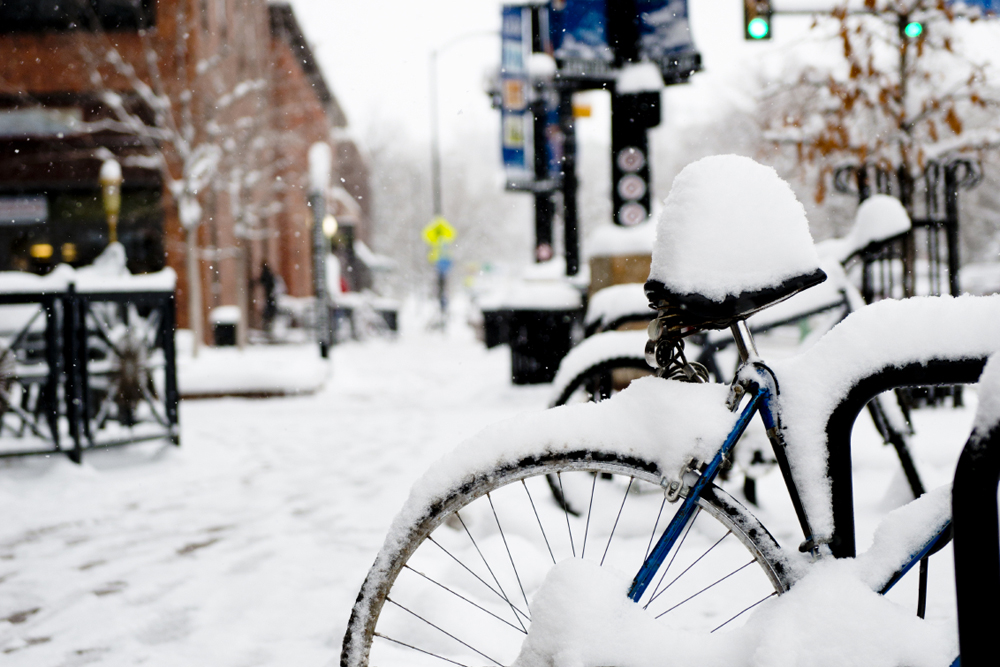 We do get snow in Boulder, and they even plow the bike paths!